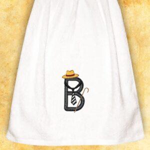 """Ręcznik haftowany dla Panów """"B"""""""