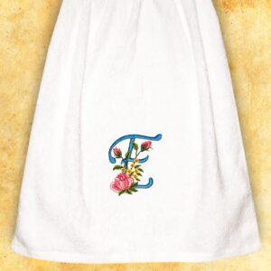 """Ręcznik haftowany dla Pań """"E"""""""