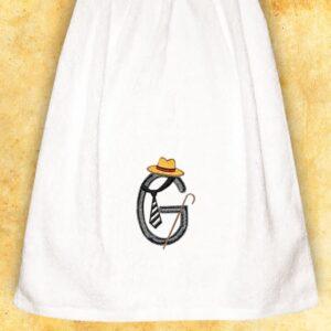 """Ręcznik haftowany dla Panów """"G"""""""