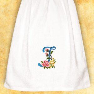 """Ręcznik haftowany dla Pań """"I"""""""
