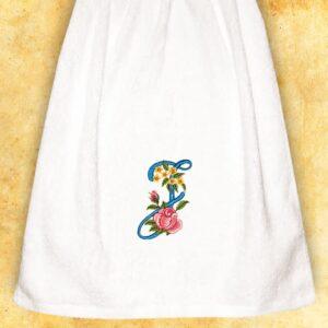 """Ręcznik haftowany dla Pań """"J"""""""