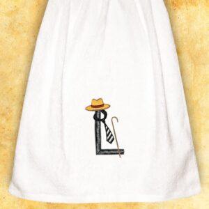 """Ręcznik haftowany dla Panów """"L"""""""