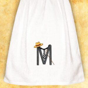 """Ręcznik haftowany dla Panów """"M"""""""