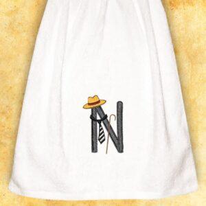 """Ręcznik haftowany dla Panów """"N"""""""
