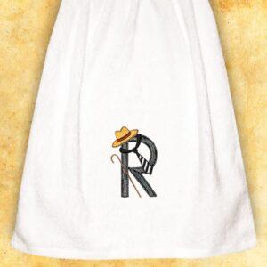 """Ręcznik haftowny dla Panów """"R"""""""