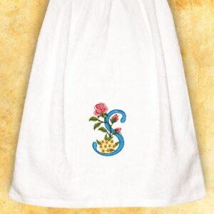 """Ręcznik haftowany dla Pań """"S"""""""