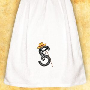 "Embroidered Towel for men ""S"""
