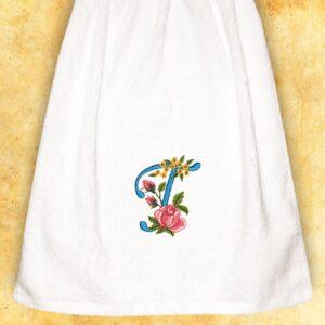 """Ręcznik haftowany dla Pań """"T"""""""