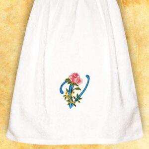 """Ręcznik haftowany dla Pań """"V"""""""