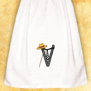 "Embroidered Towel for Gentlemen ""V"""