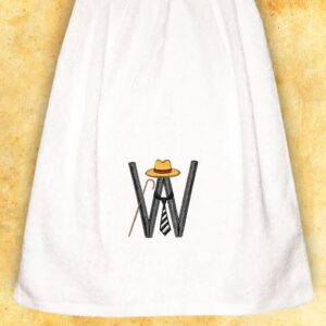 "Embroidered Towel for gents ""W"""