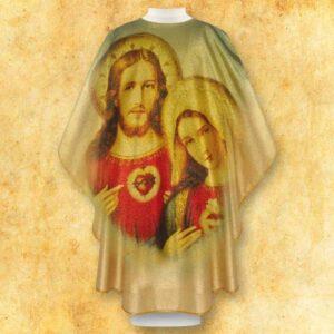 """Ornat foto złoty """"Jezus i Maryja"""""""
