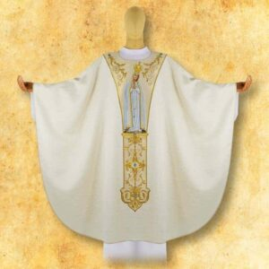 "Chasuble with embroidered belt ""MB Fatima"""
