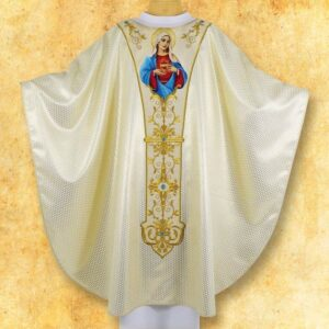 "Chasuble embroidered ""Heart of Mary"""