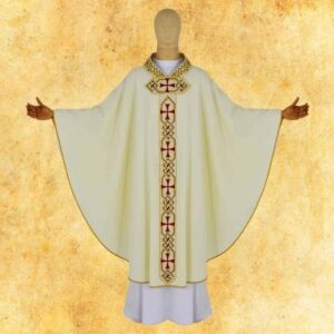 "Chasuble embroidered ""CREDO"""