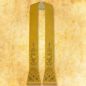 """Stuła haftowana złota """"Krzyż"""""""