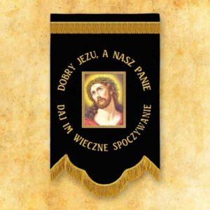 """Chorągiew żałobna """"Jezus Cierpiący"""""""