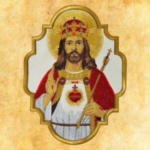 """Aplikacja haftowana """"Jezus Król"""""""