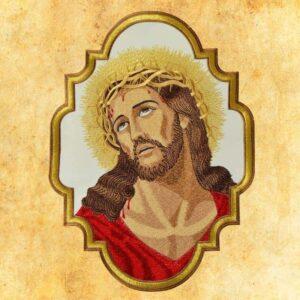 """Aplikacja haftowana """"Jezus Cierpiący"""""""