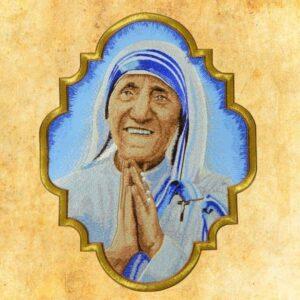 "Aplikacja haftowana ""Święta Teresa z Kalkuty"""