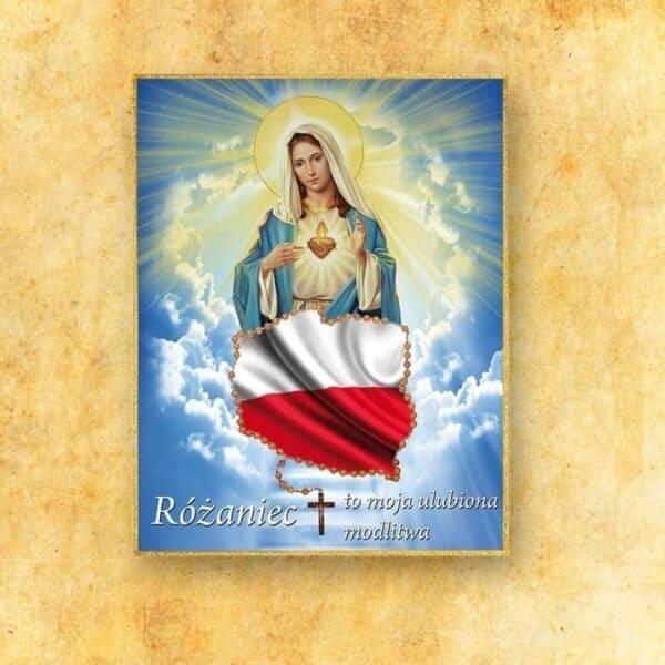 Ozdoba liturgiczna duża Serce Maryji (fotograficzna)