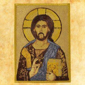 """Aplikacja haftowana """"Jezus Pantokrator"""""""
