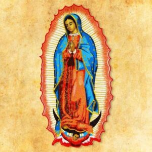 """Aplikacja haftowana """"Matka Boża z Guadelupe"""""""