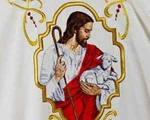 Jezus Chrystus haftowany