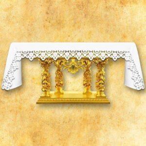 """""""Bianco Fiori"""" tablecloth"""