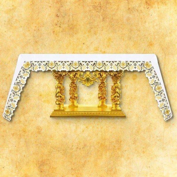 Obrus haftowany Złote Listki