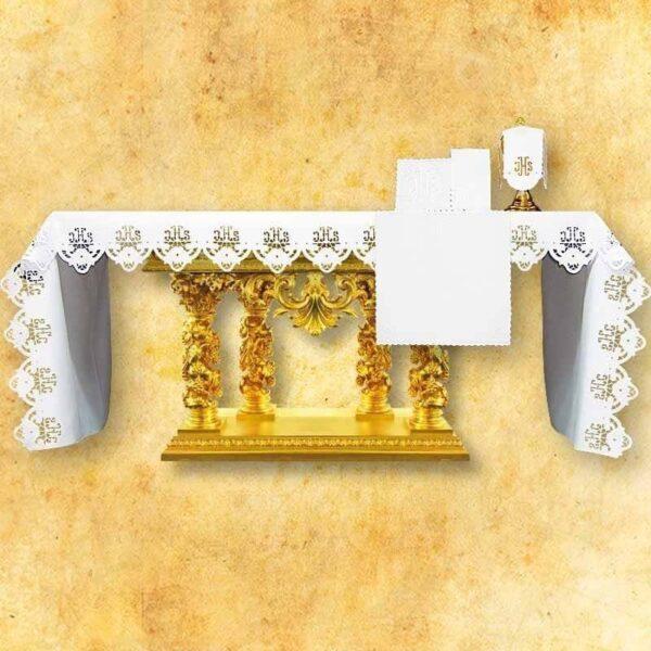 Obrus haftowany IHS Ażurowy Biały