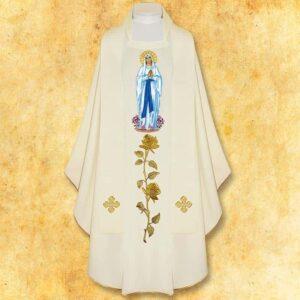 "Ornat haftowany ""Madonna di Lourdes"""