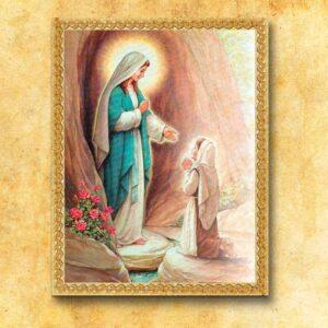 "Obraz na tkaninie ""Madonna di Lourdes"""