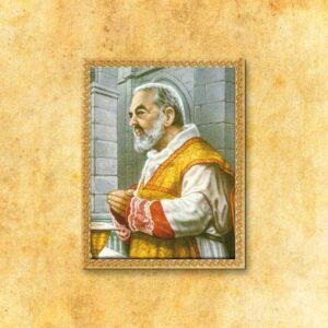"""Obraz na tkaninie """"Św. Ojciec Pio"""""""