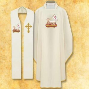 "Set of Chasuble and stole ""lamb"""