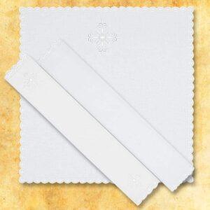 Korporał haftowany biały