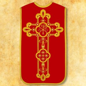 """Ornat haftowany rzymski """"Alfa Omega"""""""