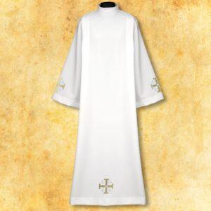 """Alba haftowana """"Krzyże Jerozolimskie"""" białe"""