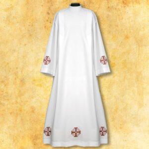 """Alba haftowana """"Krzyże Jerozolimskie"""" czerwone"""