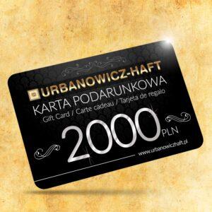 Karta podarunkowa o wartości 2000 PLN