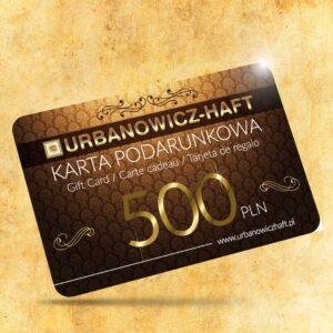 Karta podarunkowa o wartości 500 PLN