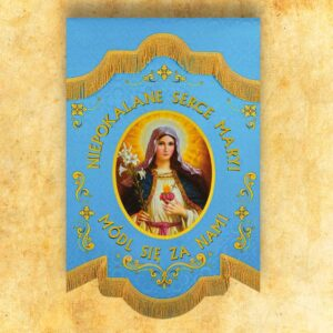 "Mini double-sided flag ""Heart of Mary"""