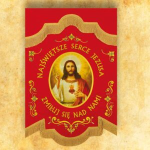 "Mini double-sided flag ""Heart of Jesus"""