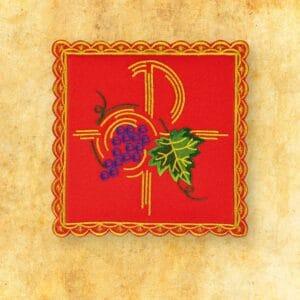 Palka haftowana czerwona nr 26