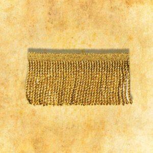 Frędzle metalizowane złote 7cm