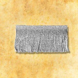 Frędzle metalizowane srebrne 7cm