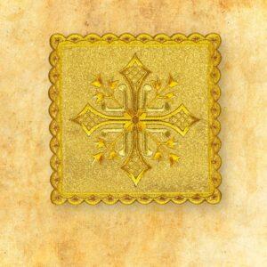 Palka haftowana złota nr 36