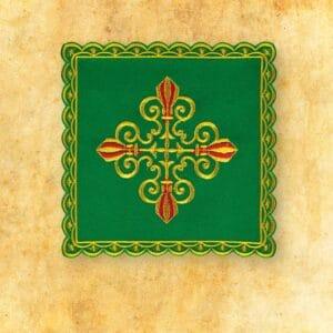 Palka haftowana zielona nr 39