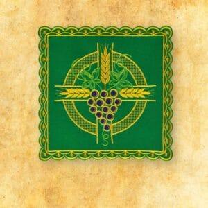 Palka haftowana zielona nr 40