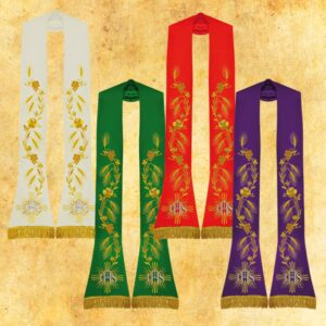 "A set of Roman embroidered stoles ""Dominion"""